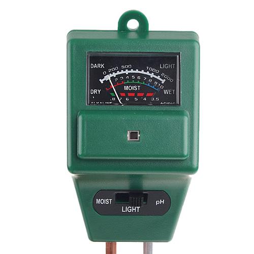 pH метр для измерения ph земли, влажности грунта и освещенности