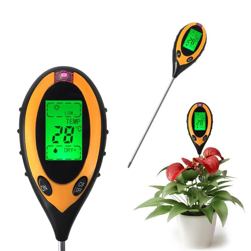 PH-300 - цифровой прибор для измерения параметров почвы 4 в 1