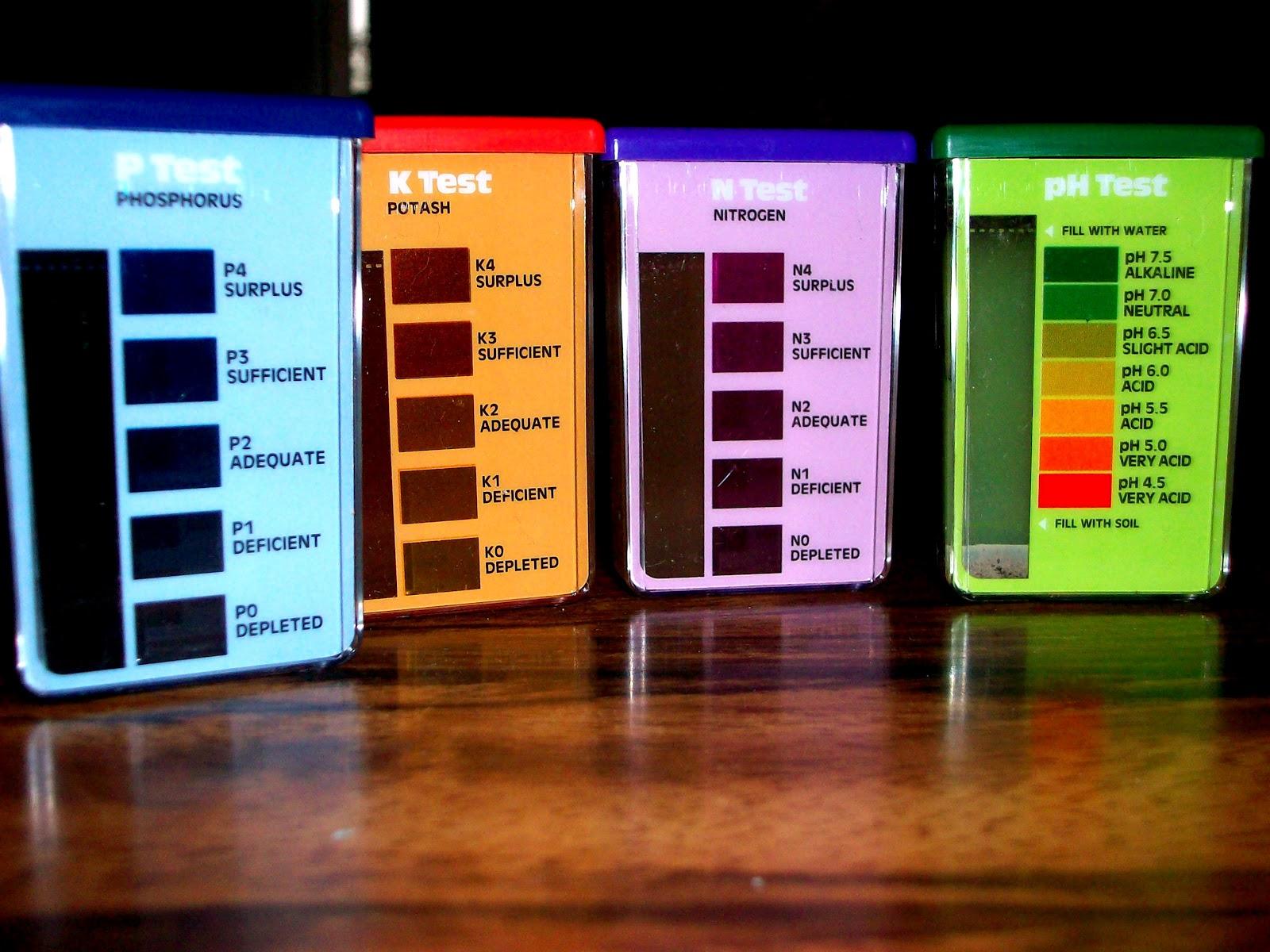 Тестирование pH грунта, азот, фосфор, калий